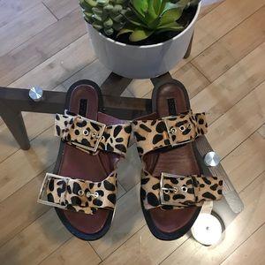 Topshop Leopard Sandals